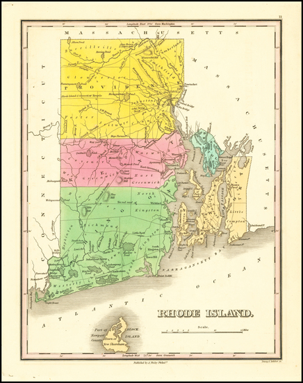 12-Rhode Island Map By Anthony Finley