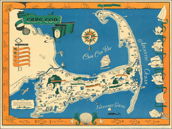 Massachusetts and Pictorial Maps Map By Paul Paige