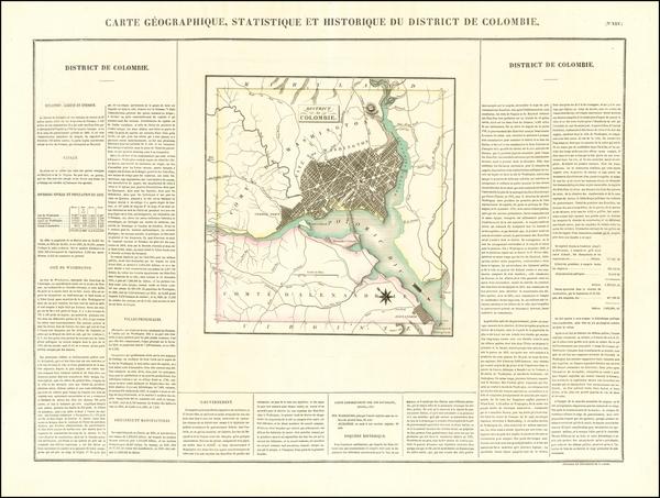 51-Washington, D.C. Map By Jean Alexandre Buchon