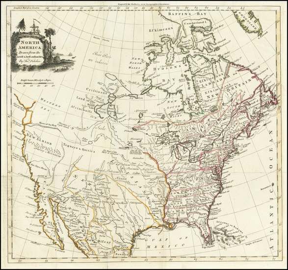 12-United States and North America Map By Thomas Kitchin