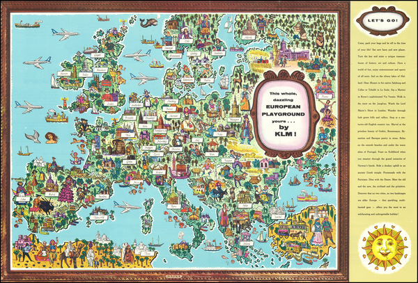 Europe and Pictorial Maps Map By KLM
