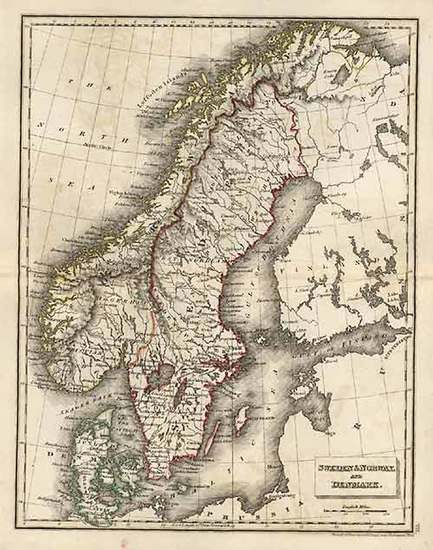 55-Europe, Baltic Countries and Scandinavia Map By J.C. Russell & Sons