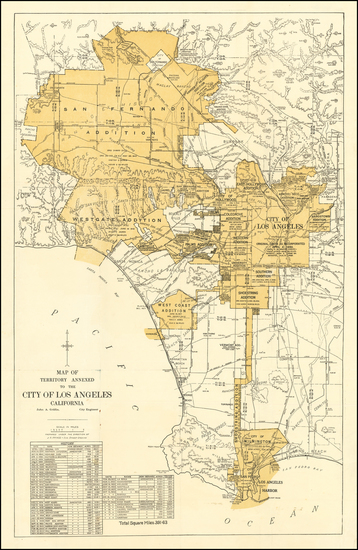 48-Los Angeles Map By Los Angeles Board of Public Works