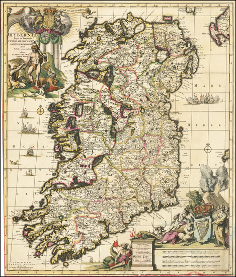 25-Ireland Map By Carel Allard