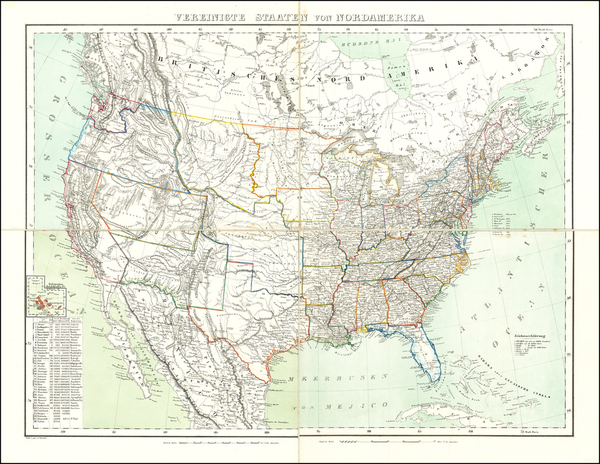 68-United States Map By Carl Flemming