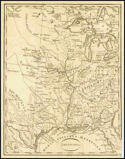 50-South, Louisiana, Texas, Midwest and Plains Map By T.F. Ehrmann