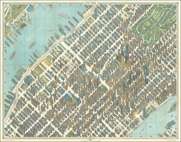 New York City and Pictorial Maps Map By Hermann Bollmann