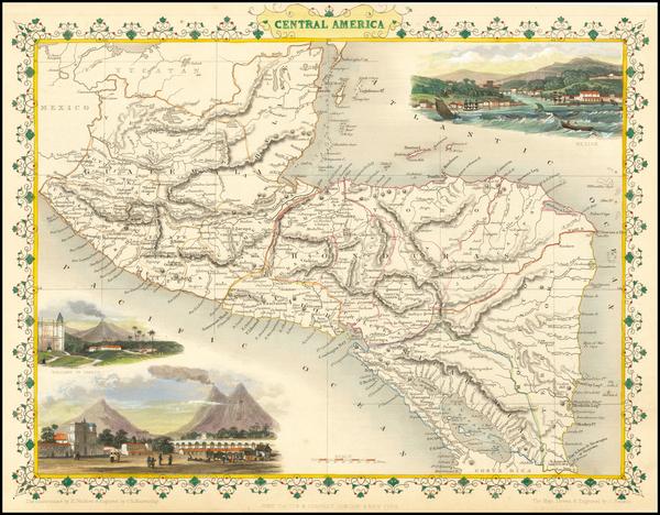 14-Central America Map By John Tallis