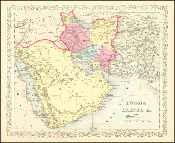 47-Central Asia & Caucasus and Middle East Map By Charles Desilver