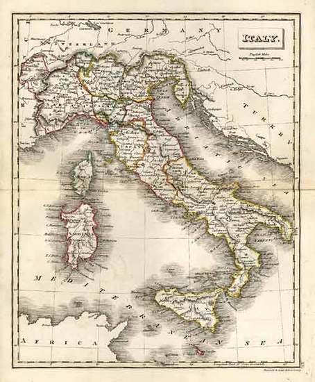 31-Europe, Italy, Mediterranean and Balearic Islands Map By J.C. Russell & Sons