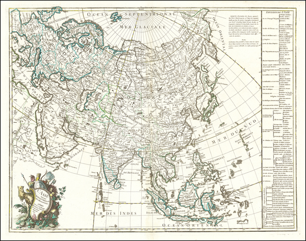 83-Asia Map By George Louis Le Rouge