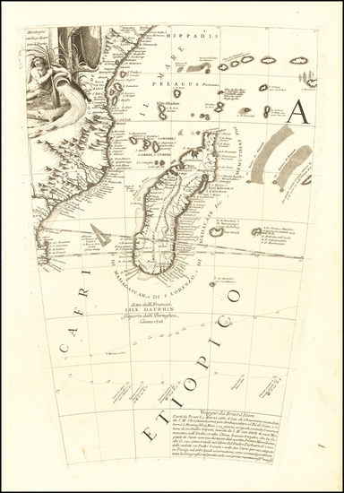 13-East Africa and African Islands, including Madagascar Map By Vincenzo Maria Coronelli