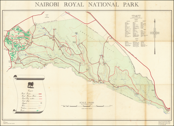 81-East Africa Map By Survey of Nairobi