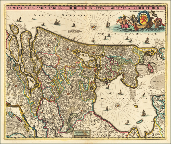 Netherlands Map By Frederick De Wit / Pieter Mortier