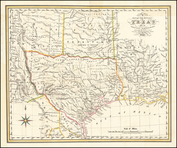 43-Texas and Southwest Map By Charles Frederick Cheffins