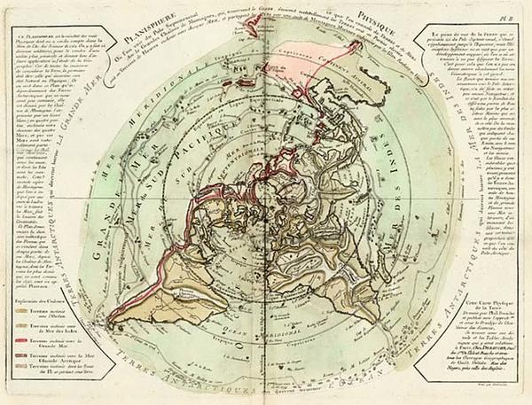 47-World, World, Northern Hemisphere, Alaska and Canada Map By Philippe Buache