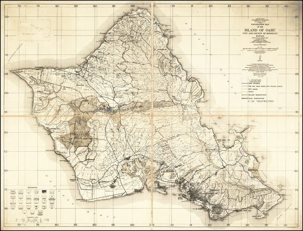 7-Hawaii, Hawaii and World War II Map By U.S. Department of the Interior Geological Survey  &