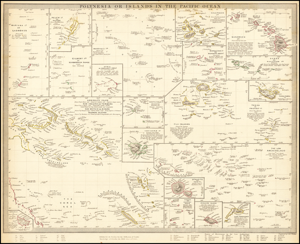 59-Hawaii, Pacific, Oceania, Hawaii and Other Pacific Islands Map By SDUK