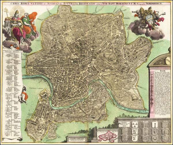 10-Rome Map By Johann Baptist Homann