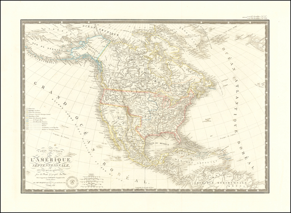92-North America Map By Adrien-Hubert Brué