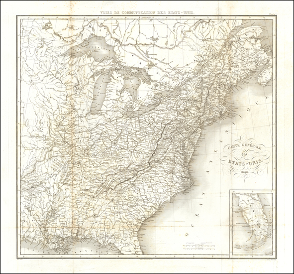 46-United States Map By Pierre Antoine Tardieu