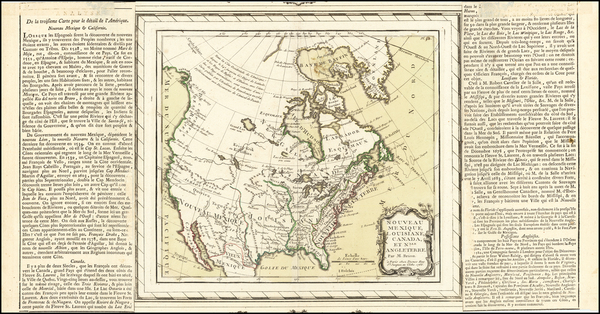 96-Southwest and North America Map By Louis Charles Desnos