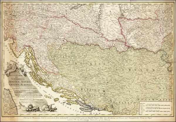 Austria, Hungary, Balkans, Croatia & Slovenia, Bosnia & Herzegovina, Serbia and Albania, Kosovo, Macedonia Map By H. C. Schmitz / Franz Muller