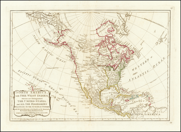 55-United States and North America Map By Samuel Dunn