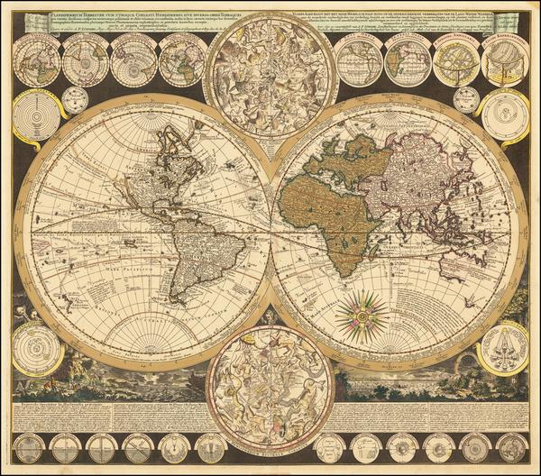World and California as an Island Map By Adam Friedrich Zurner