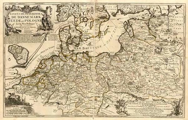 37-Europe, Germany, Poland, Baltic Countries and Scandinavia Map By Nicolas de Fer