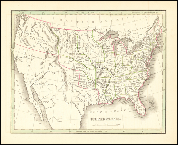 9-United States Map By Thomas Gamaliel Bradford