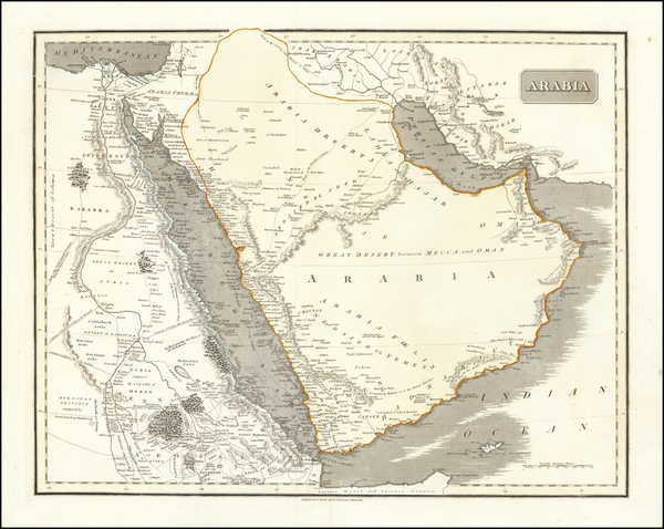 73-Middle East and Arabian Peninsula Map By Daniel Lizars