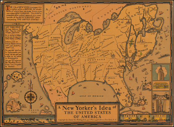 10-United States and Pictorial Maps Map By Daniel K. Wallingford