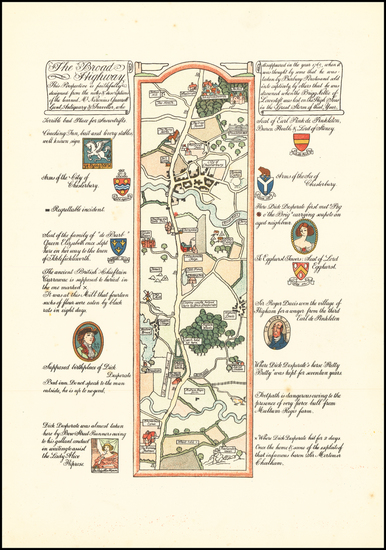 72-Curiosities Map By Gilbert Anthony Pownall