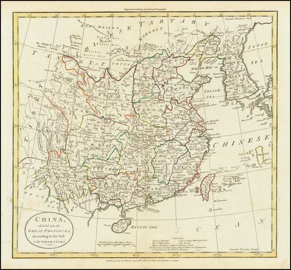94-China and Korea Map By G. Robinson  &  Charles Dilly