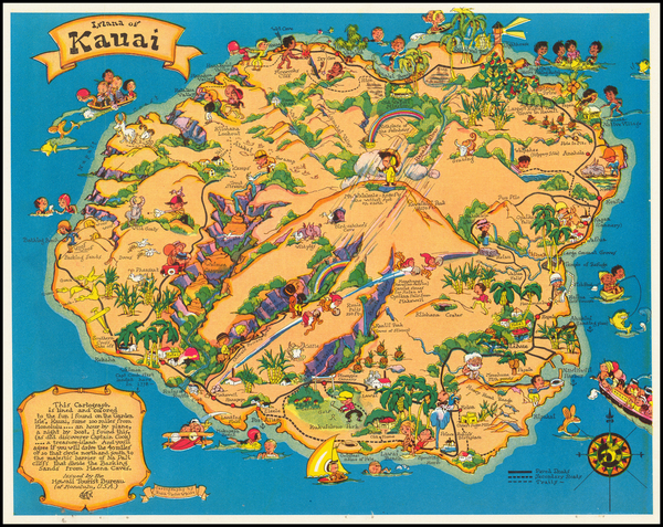 24-Hawaii and Hawaii Map By Ruth Taylor White