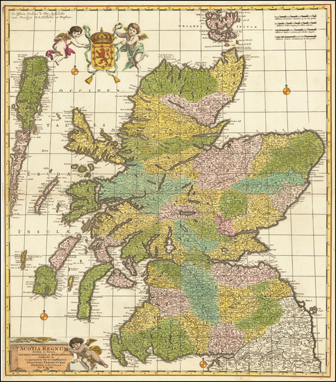62-Scotland Map By Frederick De Wit