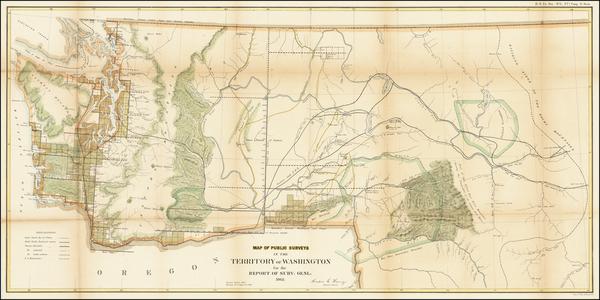 5-Idaho and Washington Map By U.S. General Land Office