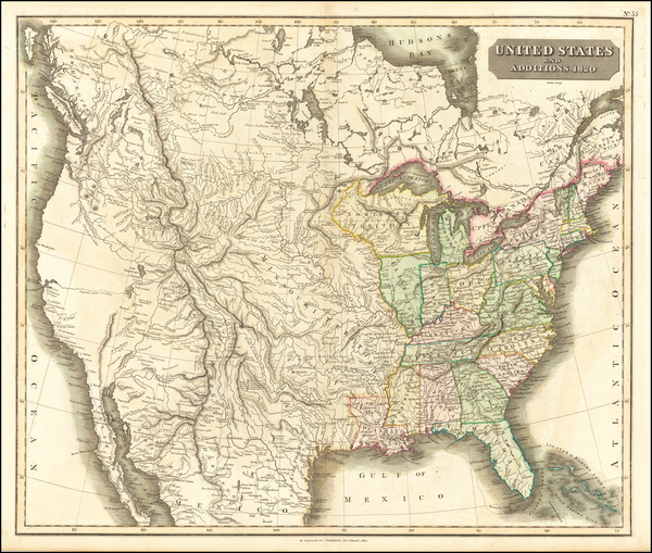 United States Map By John Thomson