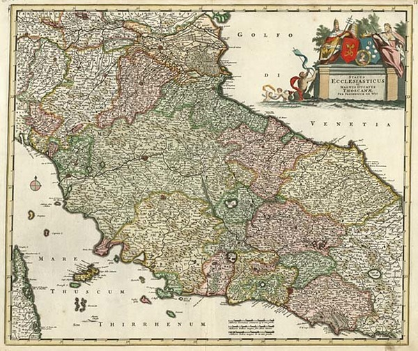 43-Europe and Italy Map By Frederick De Wit