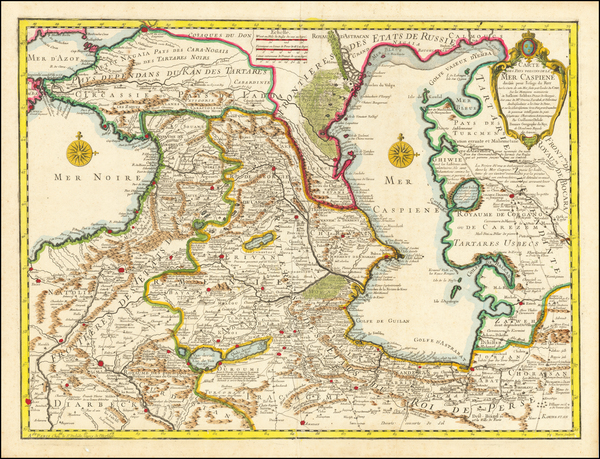 70-Russia, Central Asia & Caucasus and Persia Map By Guillaume De L'Isle