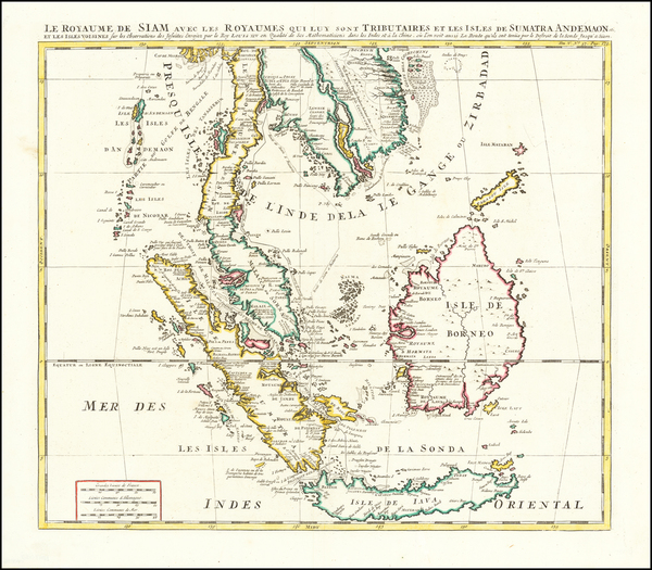 75-Southeast Asia, Indonesia, Malaysia and Other Islands Map By Henri Chatelain
