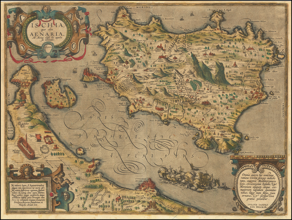 83-Southern Italy Map By Abraham Ortelius