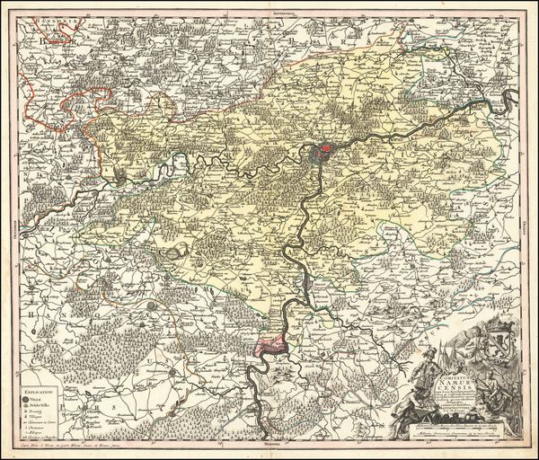 Belgium Map By Matthaus Seutter