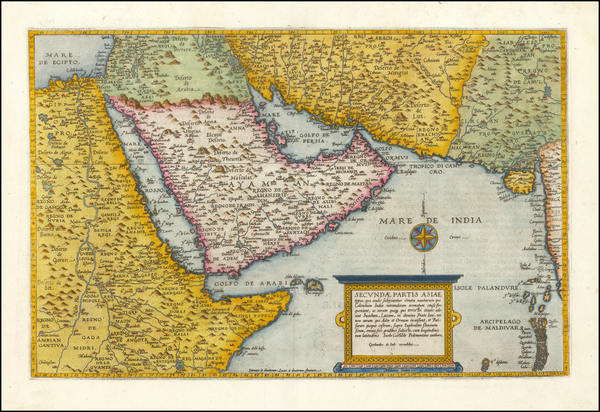 65-Central Asia & Caucasus, Middle East, Arabian Peninsula and Egypt Map By Cornelis de Jode