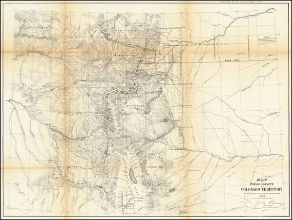 Colorado and Colorado Map By U.S. General Land Office Survey