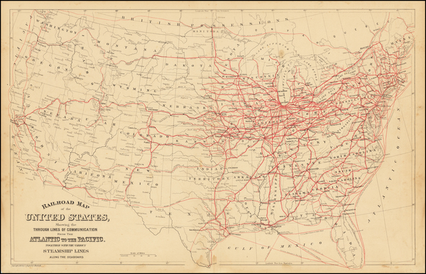 95-United States Map By Samuel Augustus Mitchell Jr.