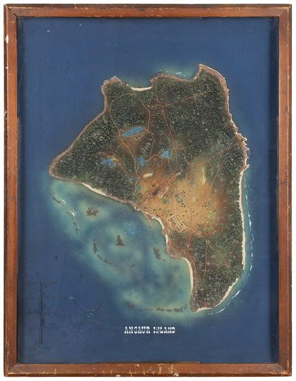 Other Pacific Islands and World War II Map By Terrain Model Workshop, US Navy