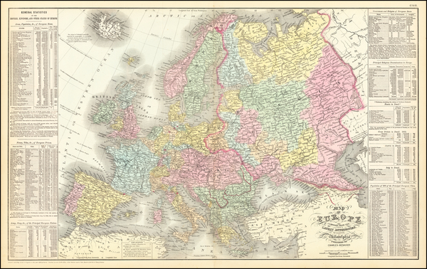 98-Europe Map By Cowperthwait, Desilver & Butler