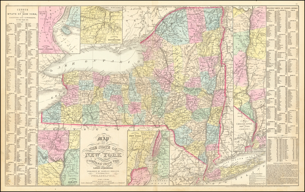 New York State Map By Charles Desilver